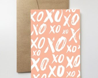 XO Card | Valentines Day. Love. Birthday. Mother's Day. Just Because. Wedding. Engagement. Anniversary.