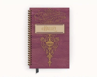 """2017 Planner Dusky Rose """"Best Is Yet To Come"""" Personalized To Do List Spiral Bound Calendar Book"""