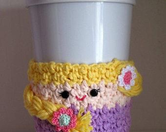 Crochet Rapunzel Coffee Cup Cozy