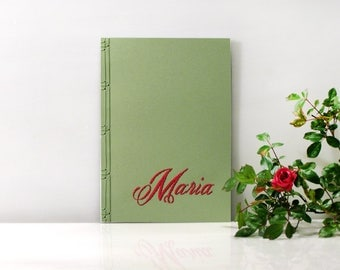 Customized Notebook. Embroidered Name Notebook. Custom Journal for Her. Personalized Journal. Personalized Gift for Her. Women's Gift