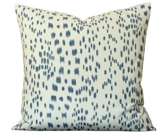 Brunschwig & Fils Les Touches Pillow Cover in Navy Blue