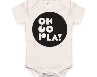 Organic cotton onesie, fair trade clothing, Infant Baby Bodysuit, Cute Onesie, Black white Onesie, Baby Bodysuit, Short sleeve Bodysuit,