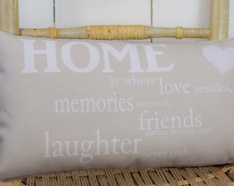 Home Word Pillow, Home Quote Pillow, New Home Gift, Country decor, kitchen pillow, housewarming gift, friends gift
