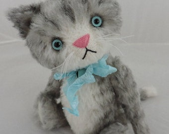 Elliot, OOAK Mohair Artist Kitten Cat, Aleta Breese