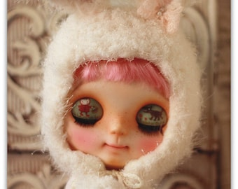 Bunny hat (white)For Blythe