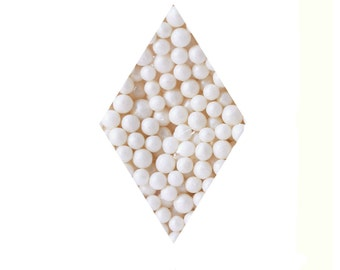 White Pearlized Sugar Pearls - 2.4 oz Sprinkles Pearl, Beads, Candy, Toppings