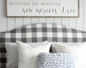 Morning by Morning New Mercies I See - Wood Sign in Two Sizes
