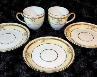 Demitasse cups and saucers Bavaria Tirschenreuth Madison 8101