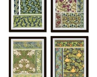Art Nouveau Print Set No. 1, Giclee, Art, Botanical Art, Print Set, Decorative Arts, Botanical Illustration, Wall Art, Art Nouveau, Prints