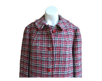 Vintage Plaid Pendleton Wool Coat Long Wool Coat Plaid Wool Coat Womens Pendleton Wool Coat Size 14