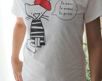 le mew cotton T-shirt