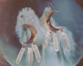 Fallen Moon Earrings