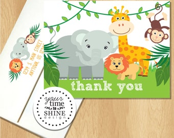 Jungle - Folded Thank You Notes