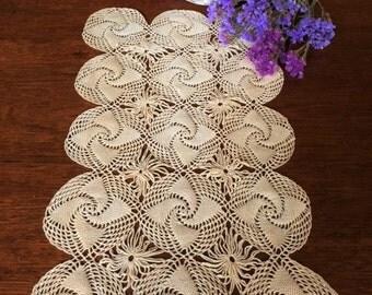 Antique Crochet Table Runner