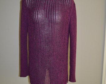 Revamped Purple Combo Shredded Sweater L