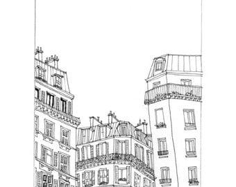 Paris illustration - Original Pen and Ink Art Print