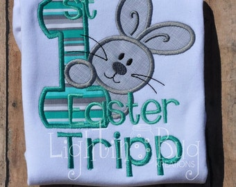 1st Easter Personalized Shirt / Rabbit Shirt / Personalized Easter Shirt