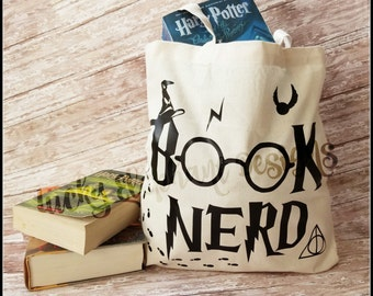 Book Nerd Book Bag. What a great way to carry your library books!