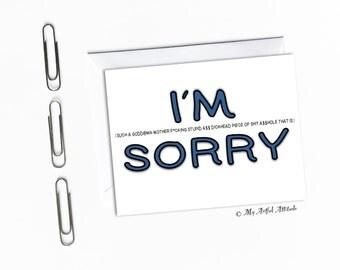 Sorry Card, I Apologize, I Messed Up, I Suck I'm Sorry, Apology, Boyfriend, Girlfriend, Wife, Husband