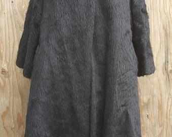 1950s - 1960s Lilli Ann Paris Faux Fur Coat // Classic & Elegant // Date Night // Vintage // MOD