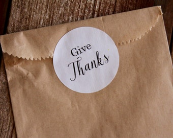 Thanksgiving Sticker, Give Thanks, Stickers