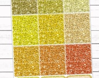 Yellow/Orange Glitter Headers {54}