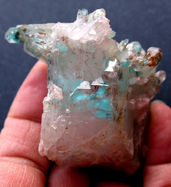 80 Gram Pristine Ajoite, Epidote, Hematite, Kaolinite, Quartz Floater. Messina, South Africa