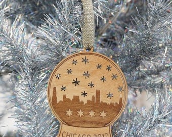 Chicago Snow Globe Ornament