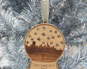 San Francisco Snow Globe Ornament