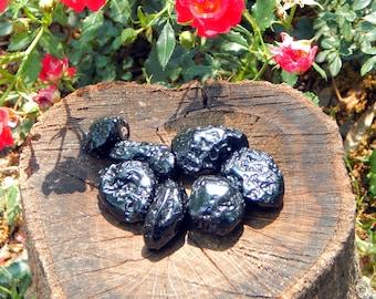 Polished TEKTITE natural gemstone - Reiki Wicca Pagan Geology gemstone specimen