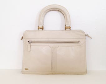 white handbag vintage 70s white purse white leather purse 70s purses structured bag small briefcase