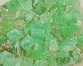 Green Calcite-Natural Green Calcite-Raw Green Calcite-Rough Green Calcite