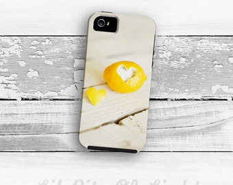 Yellow iPhone 7 Case - Love iPhone 6s Plus Cover - Lemon iPhone 8 Case - Fruit iPhone 7 Plus Case - Heart iPhone Case  iPhone SE Lemon Cute