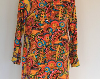 1960's eye popping shirt dress
