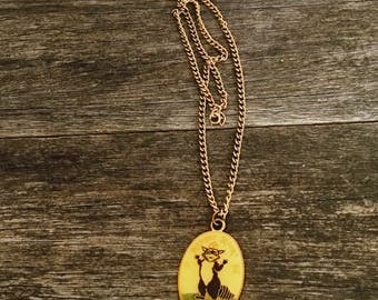 Vintage Ranger Rick Necklace - Rare Cloisone Ranger Rick Pendant - Collectible National Wildlife Federation