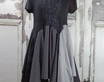 Cowl Neck upcycled Sweater Dress Upcycled Clothing Boho Chic Upcycled Dress Gypsy