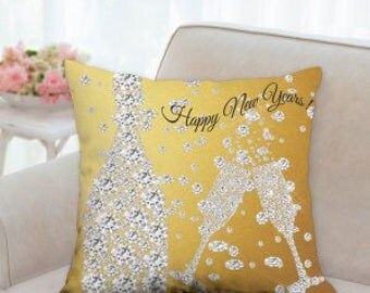 Happy New Years Pillow ( two colors to choose from )