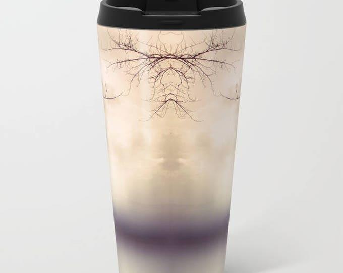 Travel Mug Metal - Abstract Tree Photograph - Coffee Travel Mug -  Hot or Cold - 15 oz Mug - Stainless Steel - Made to Order