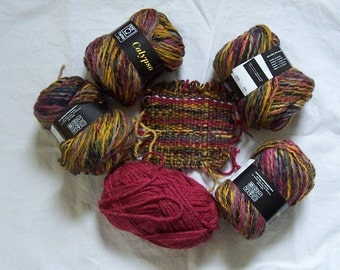4 Skeins of Colorful Tahki Calypso Yarn
