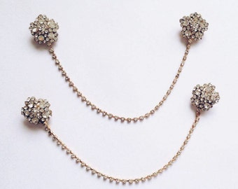 Crystal Diamante Bun Headpiece Headchain Bridal Wedding Grecian Indian Jewelry Headband Headpiece Headchain Grecian Bride Wedding Bridal