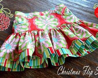 PATTERN Girls Ruffle Flip Skirt - PDF Sewing Pattern - Instant Download - Pattern Emporium