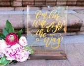 Custom Acrylic Wedding Sign, 8x10 Calligraphy Acrylic Sign, Guest Book Sign, Find Your Seat Sign, Drinks Sign, Modern Vintage Wedding