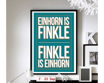 Ace Ventura ('Finkle is Einhorn') wall art