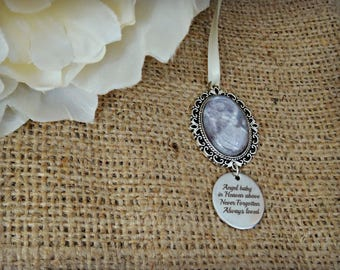 Bouquet Photo Charm With Angel Baby Charm
