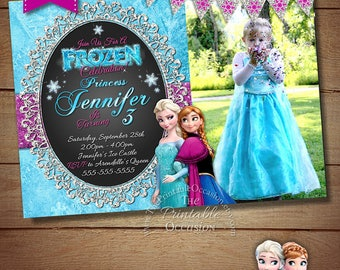Frozen Birthday Invitation, Frozen Birthday Party, Frozen Invitation, Frozen Birthday Invitation, Digital Invitation, Photo Invitation