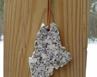 Maine Granite Ornament - Maine State Wedding Favor