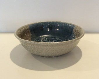 Vintage Blue Pottery Dish Bowl