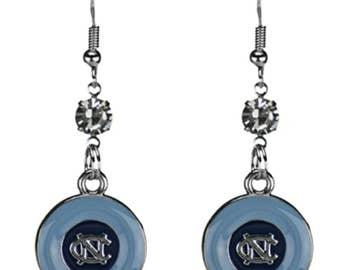 University of North Carolina (UNC) Tarheels Dangling Logo Earrings