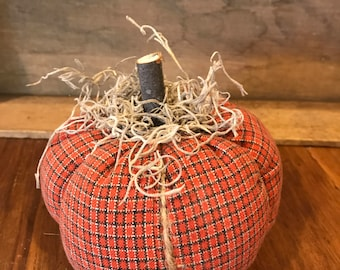 Plaid Primitive Pumpkin #3 (medium size)