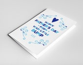 Father's Day From The Bump Card, Pregnant Father's Day Card, Card for Husband, Pregnant Father's Day Gift, Expectant Dad Card, New Dad Card